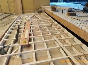 河北廊坊益田同文学校舞台体育木地板施工案例