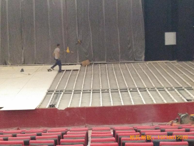 唐山师范学院舞台体育木地板铺设案例