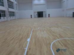 普通运动场馆木地板施工流程