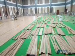 专用篮球场地板施工